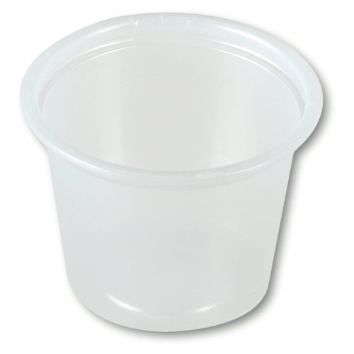 (OKSLO Souffle cup translucent plastic disposable 1 oz, 2 cases of 2500)