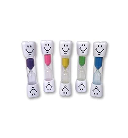 Doyime Smiley 3 Minutes Small Hourglass Brushing Mini Timer Three Minutes time Hourglass Plastic Drop