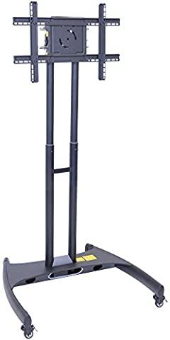 LUXOR FP2000 Flat Panel Cart Adjustable Height LCD/LED Mount, 62.5