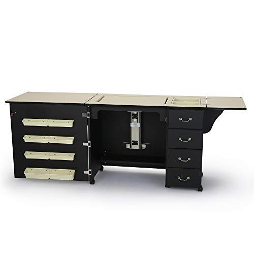 Norma Jean Wooden Sewing Table Desk Finish Black