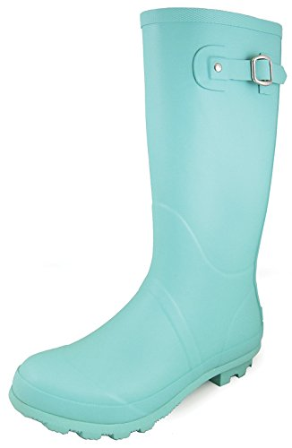 Blue Mountain Rain Boot (Smoky Mountain Women's Turquoise Rain Boot Round Toe Turquoise 9 M)
