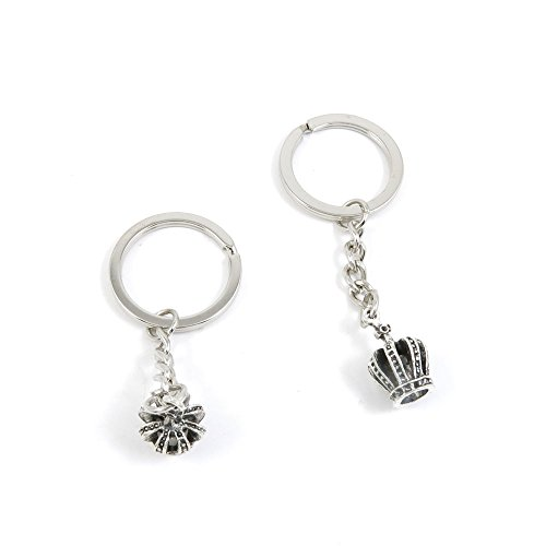 20 Pieces Keyring Key Ring O8NR7 Stereo Crown Keychain Au...