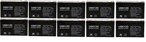 Universal Power Group 6VOLT 12AMP DEEP-Cycle Rechargeable Sealed Energy Storage Battery 12AH 6V - 10 Pack