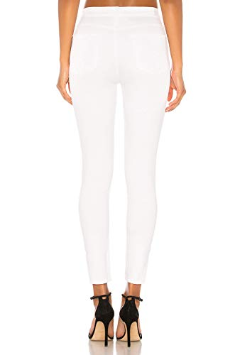 Blanc Elastique Taille Pur Super Casual Jean Skinny Haute Femme Jegging Noir Stretch Pantalons Blanc qFwgwIOf