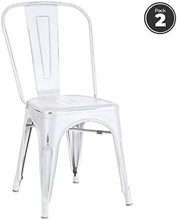 Regalos Miguel - Packs Sillas Comedor - Pack 2 Sillas Torix Vintage - Blanco Vintage - Envío Desde España: Amazon.es: Hogar