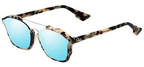 1f1133f06ec09 New Christian Dior ABSTRACT A4E A4 fog havana light blue mirror Sunglasses
