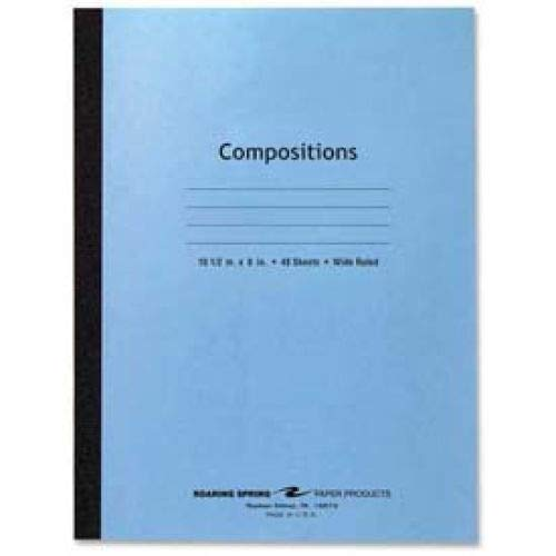 Roaring Spring Flex Cover Comp Book, 8'' x 10-1/2'', Wide Ruled, Blue, 48 Sheets/Pad (10 Books) by Roaring Spring