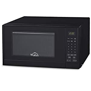 Walsh WSCMSR09BK-09 Countertop Microwave Oven,6 Cooking Programs LED Lighting Push Button, 0.9 Cu. Ft/900W, Black 6
