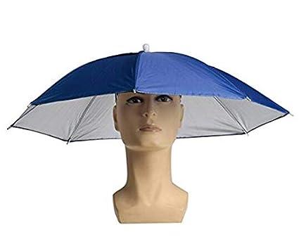 Plegable Protección Solar paraguas tiene Lluvia sombrero sombrero Deportes Pesca Camping acogedor tocado Color azar