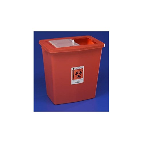 SharpSafety 8938 Multi-purpose Sharps Container, Case of 5 by COVIDIEN