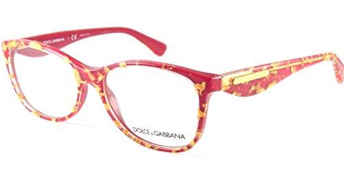 - Eyeglasses Dolce & Gabbana DG 3174 2748 LEAF GOLD ON RED
