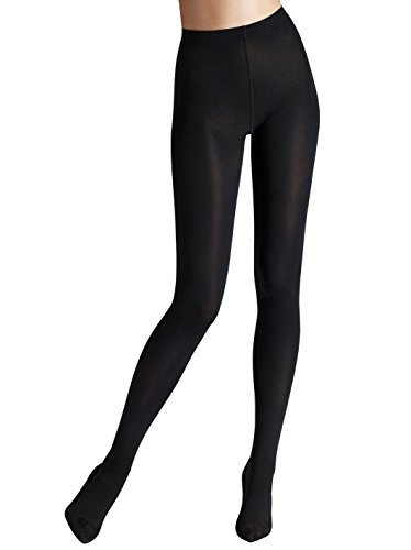 Wolford Matte 80 Denier Opaque Tights, Large, Black