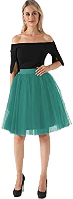 NVDKHXG Puffy 5 Capas Moda Mujer Falda de Tul Tutu Boda Nupcial ...