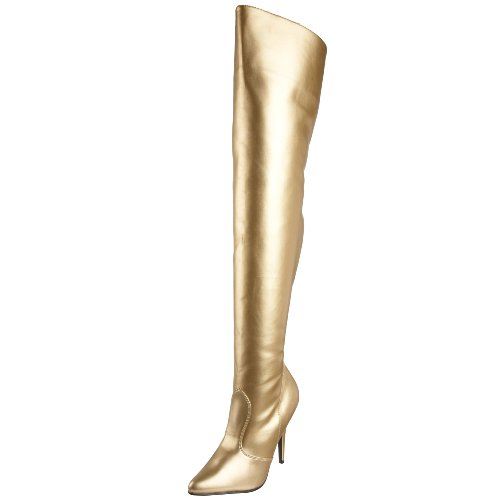 Seduce Thigh Gold 3010 Boot Women's Pu High Pleaser 5xfqgUtw