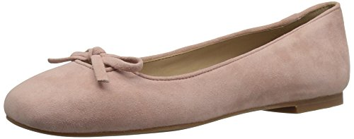The Fix Women's Zavala Structured Bow Ballet Flat, Petal Blush, 8 B US
