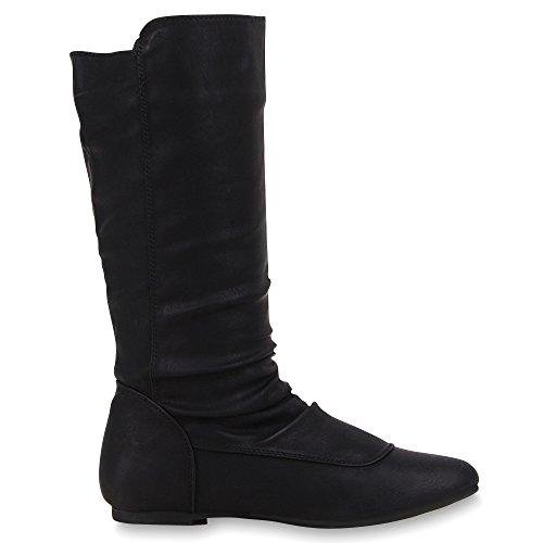 Japado - Botas plisadas Mujer negro