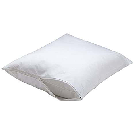Buy 1 Get 1 Free Pillow Protector Anti Allergy Hypollaergenic Bed Bug Proof Zippered: Amazon.es: Hogar