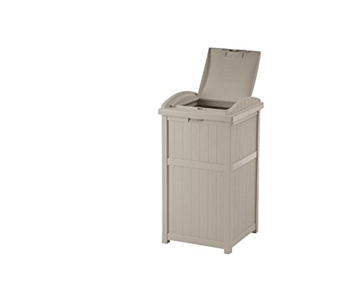 Enclosed Trash Can With Latching Cover, Resin Material, Modern And Stylish Design, Durable And Sturdy, Multi-Functional And Practical, Flexible For Indoors And Outdoors, Home, Office, Yard & E-Book. by Magic