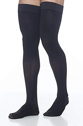 SIGVARIS Men's DYNAVEN Closed Toe Thigh-Highs w/Grip-Top 20-30mmHg