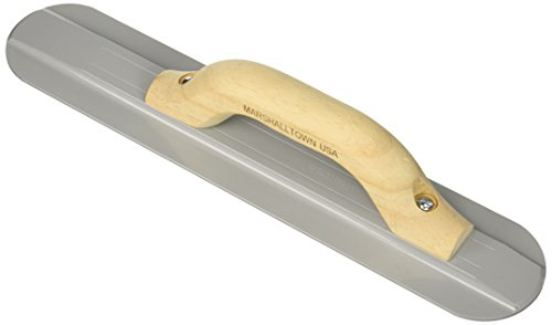 MARSHALLTOWN The Premier Line 143 16-Inch by 3-1/8-Inch Round End Magnesium Float with Wood Handle