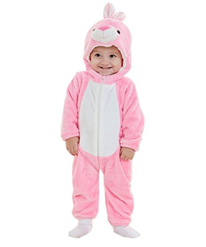 Joyhy Baby Girls Boys Toddlers Romper Cute Animal Costume Outfit Pink Bunny 110 ()