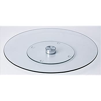 Merveilleux Oliver Smith   40 Inch Heavy Duty Dining And Kitchen Table Glass Lazy Susan  Turntable
