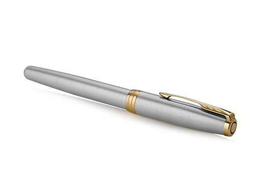 PARKER Sonnet Fountain Pen, Stainless Steel with Gold Trim, Medium Nib (1931505) by Parker (Image #3)