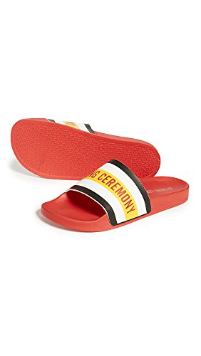 Opening Ceremony Mens Ace Slide Sandals Red Gznyo