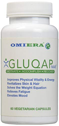 Omiera Gluqap Glutathione Supplement with Resveratrol, Coenzyme Q-10, and Vitamin B12 Antioxidant - 120 Capsules
