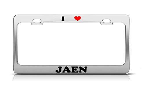 Tymeihao I Heart JAEN Spain Metal Auto License Plate Frame Tag Holder
