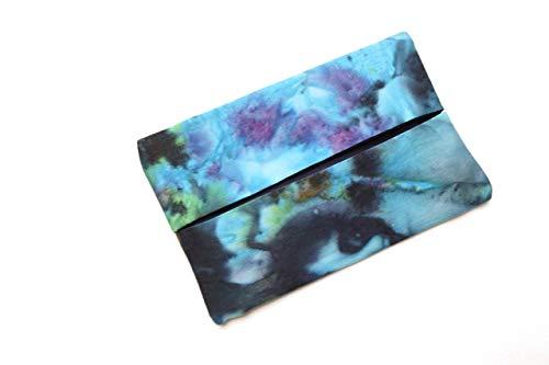 Batik Fabric Travel Size Tissue Holder with Borealis Pattern