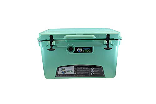 Frosted Frog Mint 45 Quart Ice Chest Heavy Duty High Performance Roto-Molded Commercial Grade Insulated Cooler ()