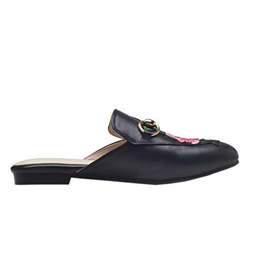foknvs 5 UK 7 Women Black 5 Vaneel Slip 2CM Flat on Slippers pAw6xq5Z