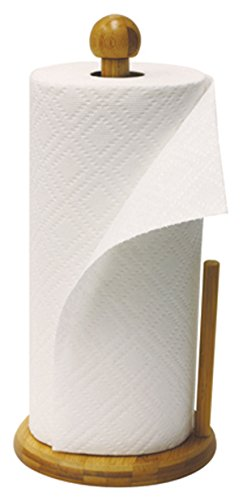 - Home Basics Paper Towel Holder, Bamboo