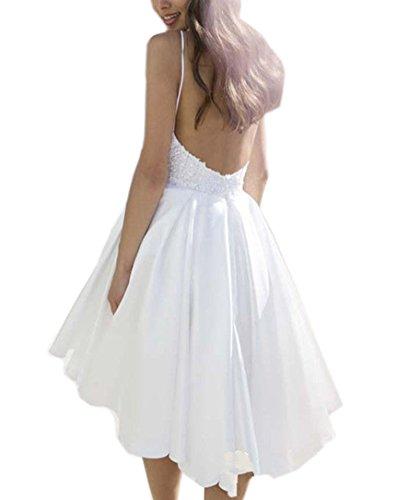 Ikerenwedding - Vestido - trapecio - para mujer Marfil