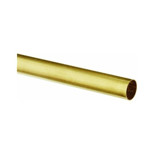 K & S PRECISION METALS 1144 3/32 x 36 Round Brass Tube (Gold Tubing)