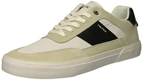 Nautica Men's Camphor Sneaker, White/Black, 10.5 Medium US