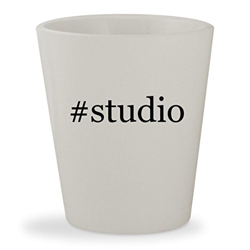 #studio - White Hashtag Ceramic 1.5oz Shot Glass