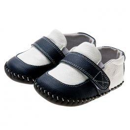 Petit Agneau Bleu - Chaussures Bébé - Bottines En Cuir Souple Pour Les Filles d0cMl