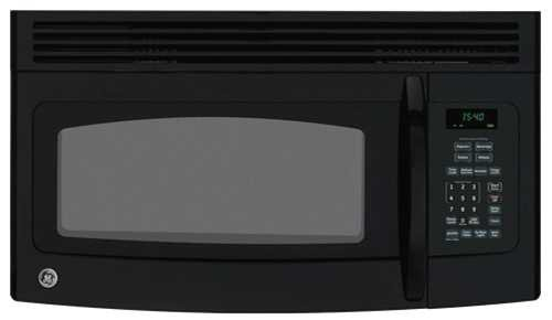 GE JNM1541DMBB 1.5 Cu. Ft. Black Over-the-Range Microwave