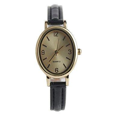 die neuen eleganten ovalen Damenmode Uhr ( Farbe : Schwarz , Geschlecht : Für Damen )