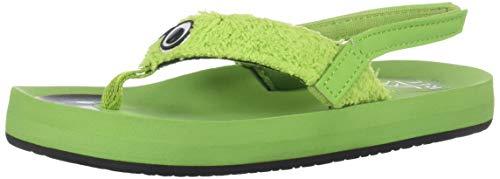 (Reef Boys AHI Monsters Sandal, Green, 11-12 Medium US Little Kid)
