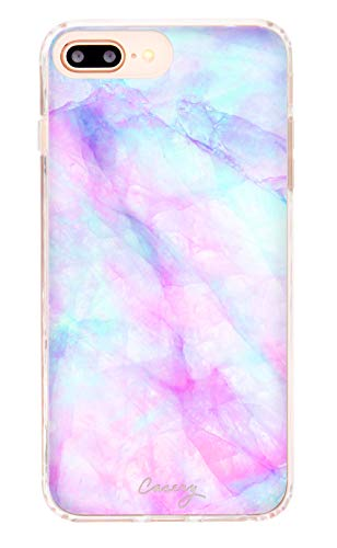 - Casery Case Designed for The Apple iPhone, Iridescent Crystal (Exotic Marble) - Military Grade Protection - Drop Tested - Protective Slim Clear Case for Apple iPhone 8 Plus, iPhone 7/6/6s Plus