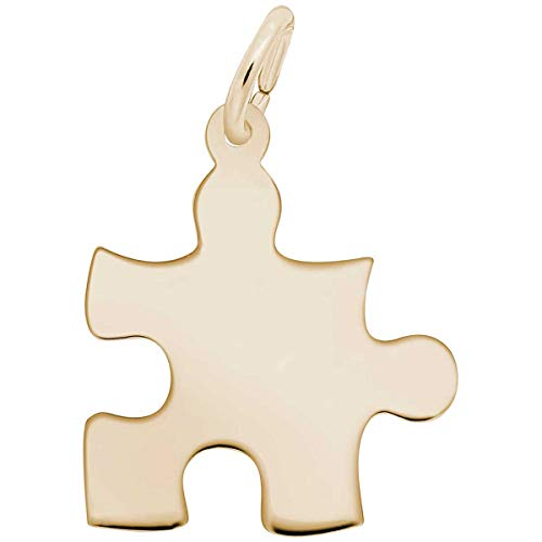Rembrandt Charms Puzzle Piece Charm, 14K Yellow Gold