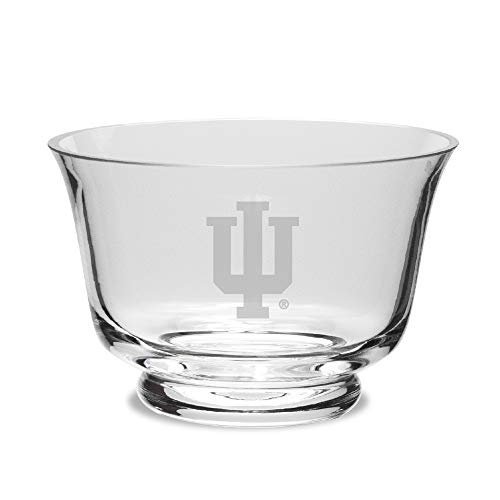 NCAA Indiana Hoosiers Crystal Revere Bowl, Clear, One Size