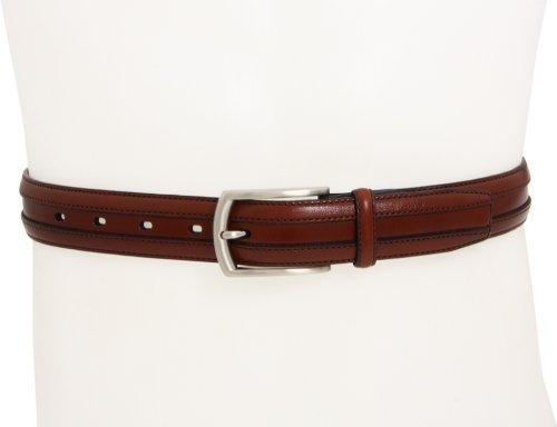 Johnston & Murphy Men's Double Calf Belt,Cognac,Size 38 - Brown Calfskin Belt