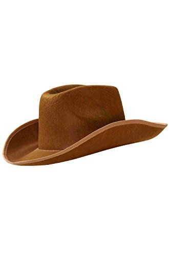 Forum Novelties Felt Cowboy Hat, Brown, Standard (Brown Cowboy Hat Felt)