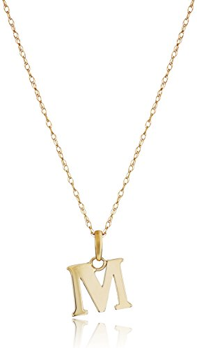 Initial 14k Yellow Gold Pendant - 14k Yellow Gold Initial