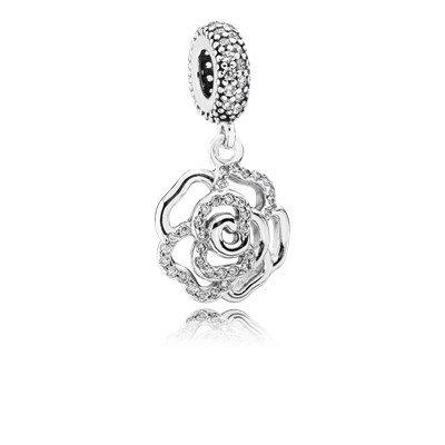 Pandora 791526cz Shimmering Rose Charm