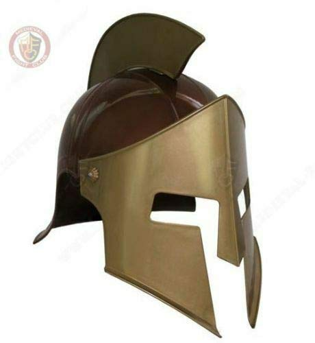 uniquewonderitems Halloween Festive 300 Leonidas Helmet Plastic Costume Spartan Toy Size fits All ()